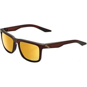 100% Blake Mirror Glasses Matte Rootbeer